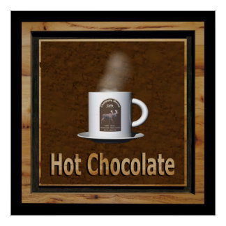Heiße Schokolade Poster