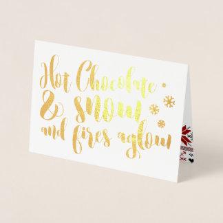 Heiße Schokolade u. Schnee-Reim-Entwurf Folienkarte