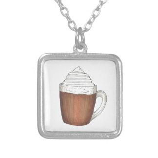 Heiße Schokoladen-Kakao-Weihnachtswinter-Halskette Versilberte Kette