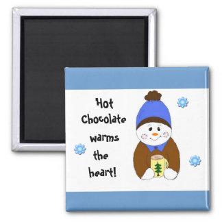 Heiße Schokoladen-Sprichwort Quadratischer Magnet