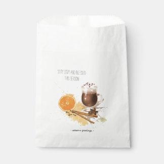 Heiße Schokoladen-Zimt-orange Jahreszeit-Grüße Geschenktütchen