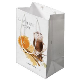 Heiße Schokoladen-Zimt-orange Jahreszeit-Grüße Mittlere Geschenktüte