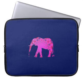 Heiße Silhouette des rosa Elefanten Laptopschutzhülle