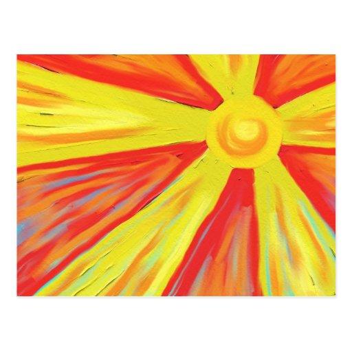 Heiße Sun-Strahlen Postkarten