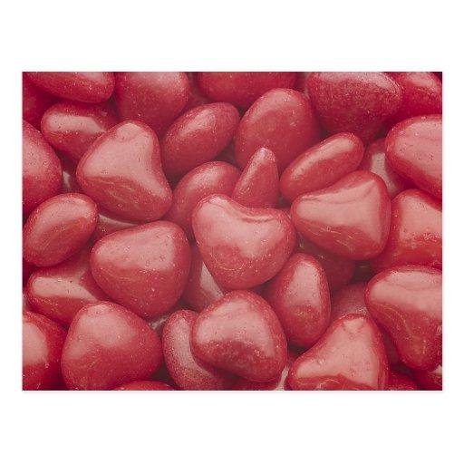 Heiße Süßigkeits-Herzen Postkarte