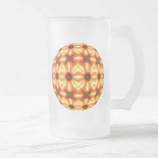 Heiße Teufel-Damen-Kaleidoskop-Mandala Mattglas Bierglas
