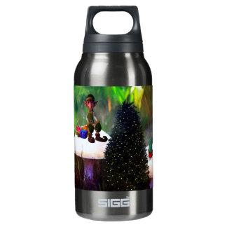 Heiße und kalte Weihnachtself-Flasche Isolierte Flasche