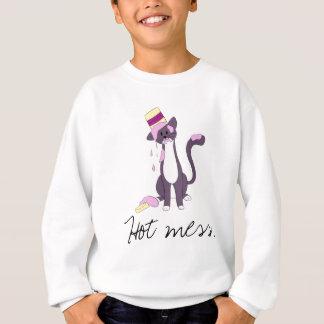 Heiße Verwirrung-Taz umfaßt in der Eiscreme Sweatshirt