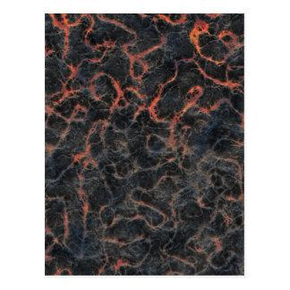 Heiße vulkanische Aschen-rote Linien des Postkarte
