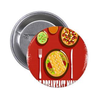 Heißer Frühstücks-Monat Februar - Anerkennungs-Tag Runder Button 5,7 Cm