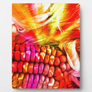heißer gestreifter Mais Fotoplatte