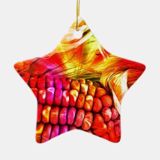 heißer gestreifter Mais Keramik Ornament
