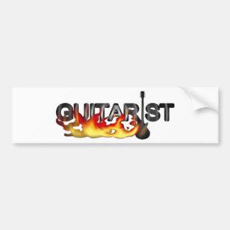 Heißer Gitarrist-Gitarrist Autoaufkleber