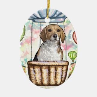 - heißer Haarballon Ovales Keramik Ornament