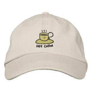 Heißer Kaffee (schwarze Kontur) Bestickte Kappe