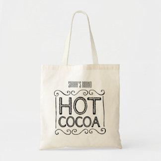 Heißer Kakao addieren Ihren Namen Tragetasche
