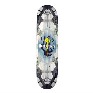 Heißer Küken-Cartoon 20,6 Cm Skateboard Deck