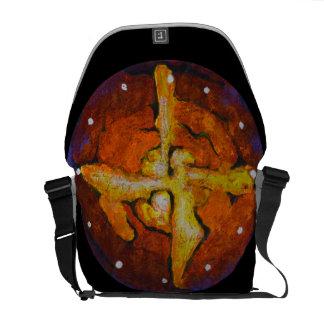 Heißer Querstern - abstrakte Bote-Tasche Kurier Taschen
