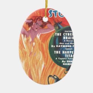 Heißer Redhead Ovales Keramik Ornament