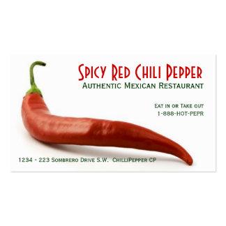 Heißer roter Chili-Pfeffer Visitenkarten