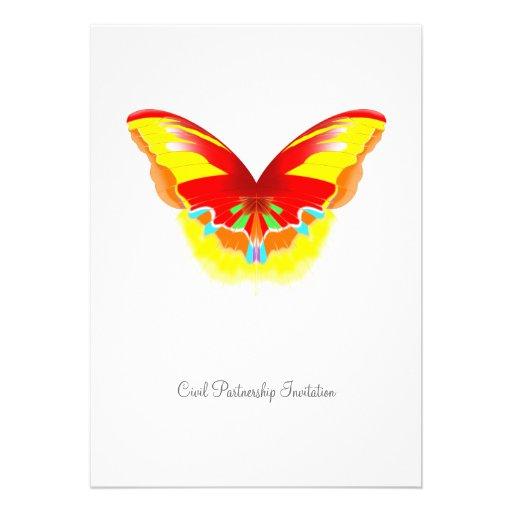 Heißer Schmetterling - zivile Einladungskarte