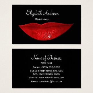 Heißer schwarzer Cosmetology-roter Visitenkarten
