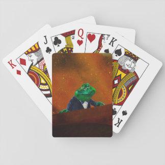 Heißer Smokings-Frosch   #2 Spielkarten
