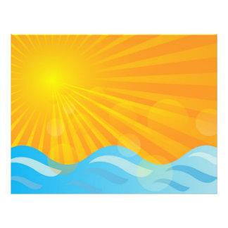 Heißer Sommer-Hintergrund 21,6 X 27,9 Cm Flyer