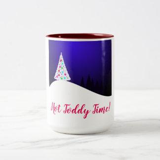 Heißer Toddy-Zeit-Tasse Zweifarbige Tasse