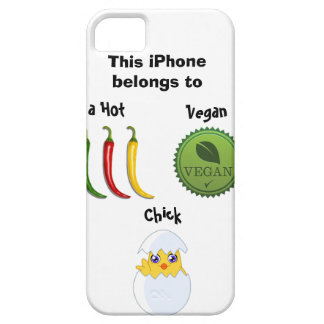 Heißer veganer Küken iPhone Fall iPhone 5 Case