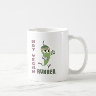 Heißer veganer Läufer Tasse
