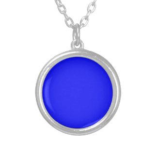 Heißes blaues kleines rundes Silber überzogene Versilberte Kette