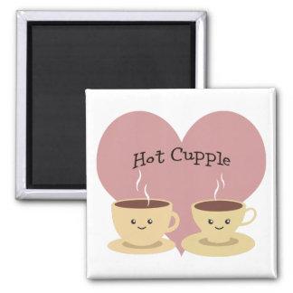 Heißes Cupple! Quadratischer Magnet