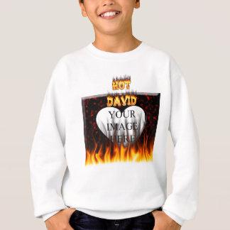 Heißes David-Feuer und Flammenrotmarmor Sweatshirt
