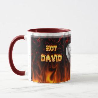 Heißes David-Feuer und Flammenrotmarmor Tasse