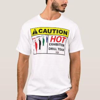 Heißes Drillteam T mit Thermometer-an Rückseite T-Shirt