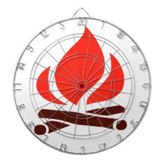 heißes Feuer im Kamin Dartscheibe