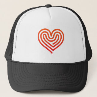 Heißes Herz Truckerkappe