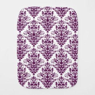 Heißes lila und weißes elegantes Damast-Muster Spucktuch
