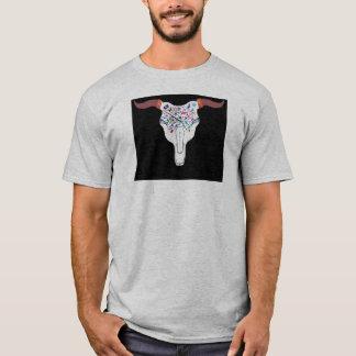 Heißes Ochse-Schädel-Tätowierungs-Skater-Shirt T-Shirt
