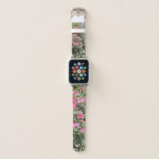 Heißes Rosa-Blumen Apple Watch Armband