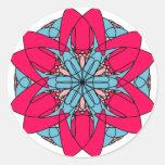 Heißes Rosa-Blumen-Aufkleber