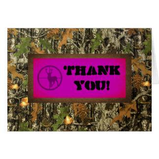 Heißes Rosa-Camouflage danken Ihnen zu kardieren Karte
