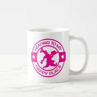 Heißes Rosa des glücklichen Gebäck-Koch des Kaffeetasse