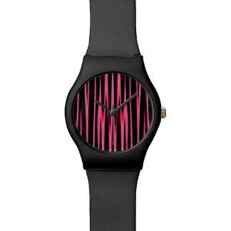 HEISSES ROSA (ein abstrakter Kunstentwurf) ~ Uhr