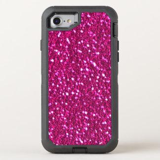 Heißes Rosa-funkelnd Glitter-Blick Bling OtterBox Defender iPhone 8/7 Hülle