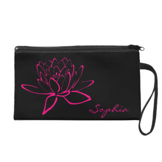 Heißes Rosa Fuschia Wristlet Handtasche