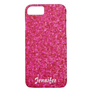 Heißes Rosa Girly Chic glatten Shine iPhone 8/7 Hülle
