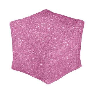 Heißes Rosa-Glitter-Glitzern Kubus Sitzpuff