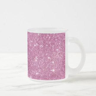 Heißes Rosa-Glitter-Glitzern Mattglastasse